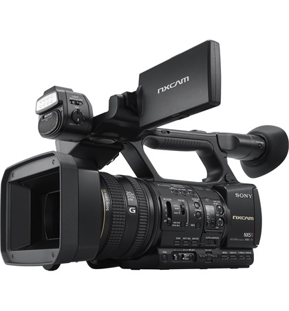 Sony HXR-NX5R NXCAM Professional Camcorder Built-In LED Light