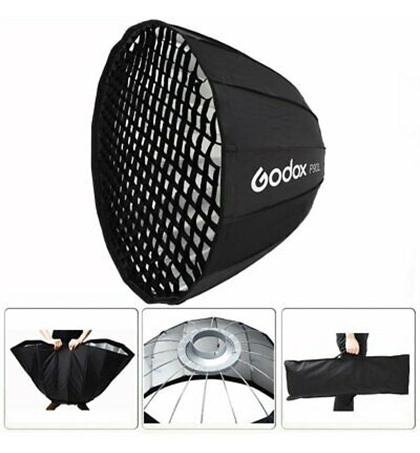 Parabolic Softbox Bowens Mount P90L with Grid