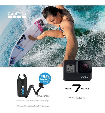 Promotion Gopro Hero7 from 14th to 31 January 2019 or till the stock last