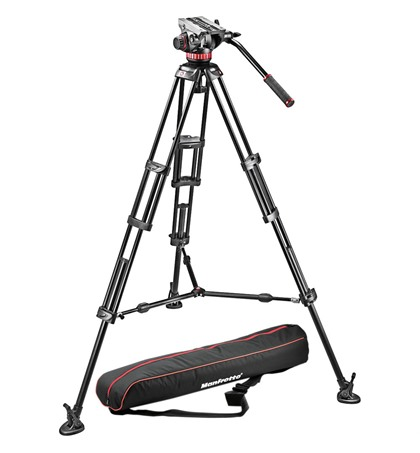 Manfrotto 546B Prof.Video Tripod with Head MVH502A