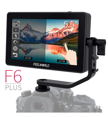 "FeelWorld F6 Plus 5.5"" 4K Touch Screen Monitor"