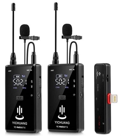 Microphone Wireless YC-WM500A2