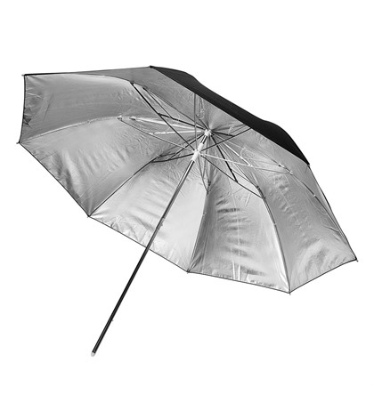 Reflective Silver Umbrella