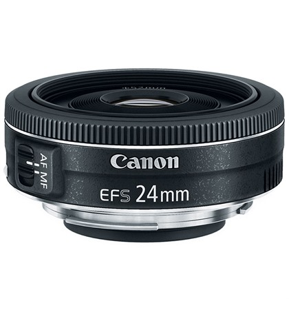Canon 24mm f/2.8 STM EF-S Lens (New)