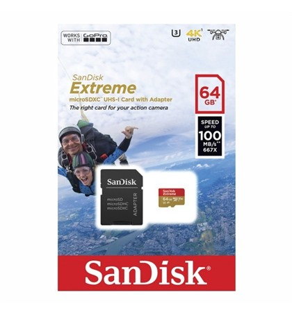 Micro SD Card 64GB Speed 100MB/s 4K Sandisk